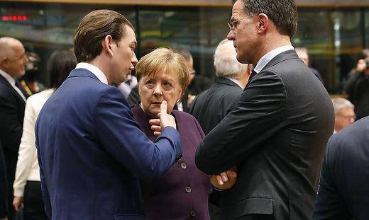 Kurz, Merkel, Rutte