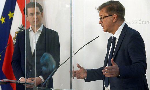 CORONA: PRESSEFOYER NACH DEM MINISTERRAT ? KURZ / ANSCHOBER