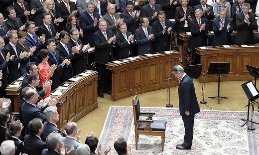 Die letzte Präsidenten-Angelobung - Heinz Fischer 2010