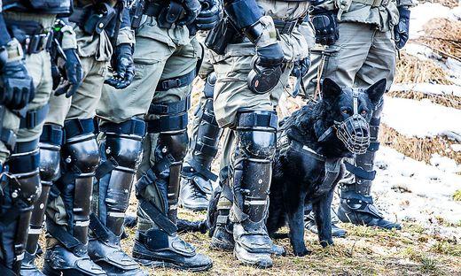 Bild von einer früheren Übung zum Schutz der Grenze
