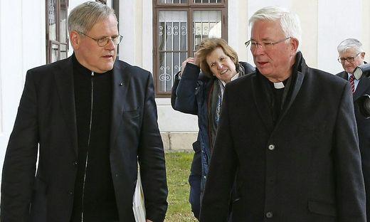 Kanzler Jakob Ibounig und Erzbischof Lackner zu Beginn der Visitation im Jänner