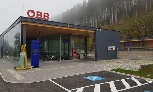 Der neue Bahnhof in Langenwang wurde 2018 offiziell eröffnet