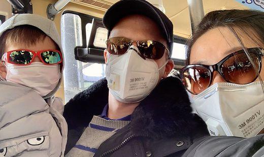 Gernot Puntigam und seine Familie unterwegs in China