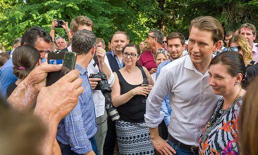 Selfie-Fieber um Sebastian Kurz