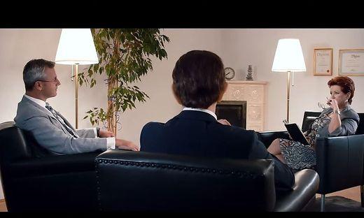 "Screenshot des FPÖ- Paartherapie""-Videos"