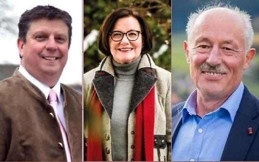 Die Kandidaten in Guttaring: Günter Kernle, Gudrun Staubmann-Frizzi, Arnulf Warmuth