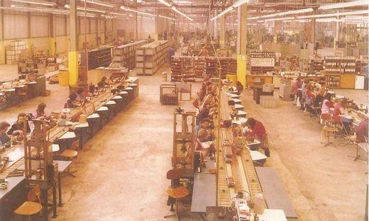 Blick in die Vergangenheit: eine Aufnahme vom Bauknecht-Werk aus den späten 70er-Jahren