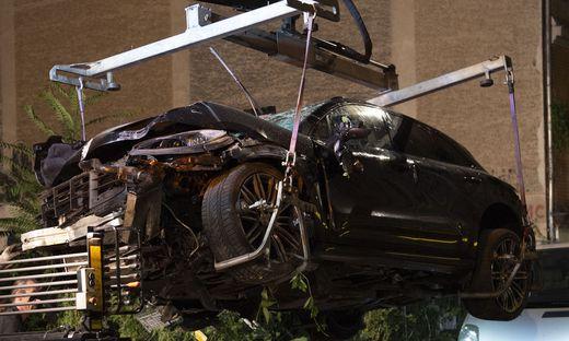 Der zerstörte SUV