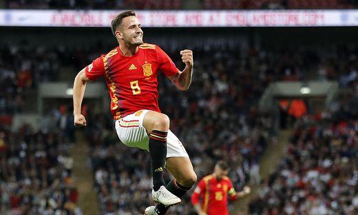 Saul Niguez jubelt über seinen Treffer gegen England - und den gelungenen Neubeginn Spaniens