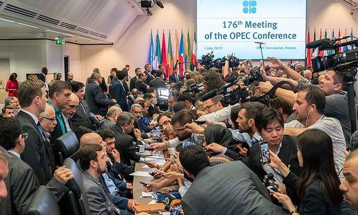 Die OPEC tagt seit Montag in Wien, das Medieninteresse ist groß