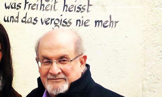 Rushdie am 9. November an der Berliner Mauer
