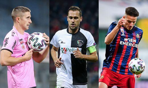 Reinhold Ranftl, Michael Liendl und Ercan Kara (v.l.n.r.) sind mit ihren Vereinen in der Europa League im Einsatz