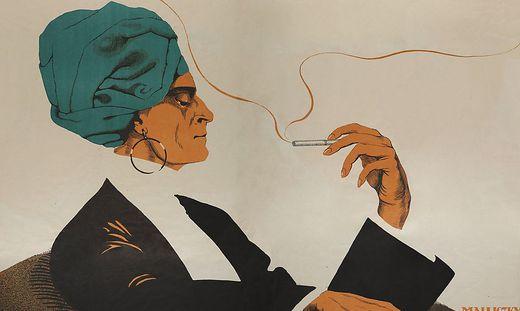 Ausschnitt aus dem Ausstellungsplakat von Mara Schrötter-Malliczky