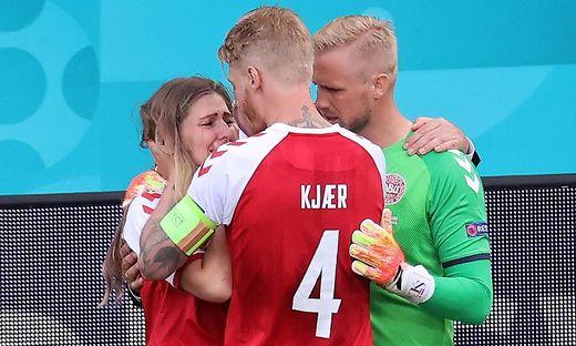 Kjaer tröstete Eriksens Freundin Sabrina Kvist Jensen