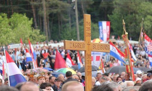 """Das Gedenken an das """"Massaker von Bleiburg"""" ist als Veranstaltung der kroatischen Kircheangemeldet"""