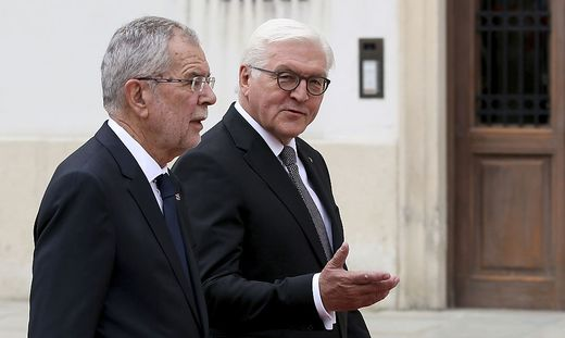 Alexander Van der Bellen und Frank-Walter Steinmeier: Botschaft an Israel