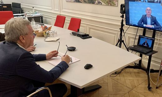 Anton Lang (SPÖ) bei Videokonferenz (Archivfoto))