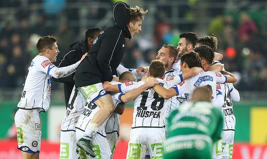 Sturm nach 3:2-Sieg über Rapid im Cup-Finale gegen Salzburg