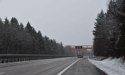 Das Verkehrsleitsystem auf der A10 zwischen Villach und Spittal ist derzeit abgeschaltet