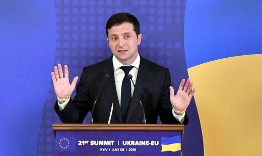 Der ukrainische Präsident Wolodymyr Selenskyj