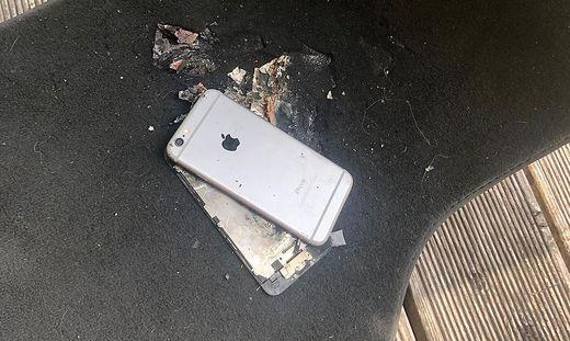 iPhone ausgebrannt