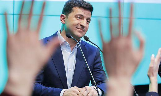 Wolodymyr Selenskyi, der strahlende Wahlsieger in der Ukraine