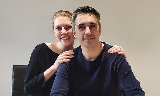 Katharina Pirker und ihr Lebensgefährte Marco vertreiben Pflegeprodukte aus Italien