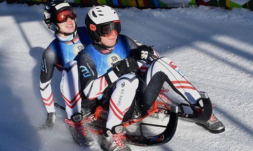 Maximilian Pichler (vorne) siegte mit Dominik Peter Maier auf der Winterleiten