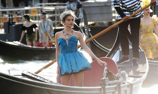 Venezia, Evento Dolce & Gabbana - arrivi in piazza San Marco - Nella foto : Leni Klum PUBLICATIONxINxGERxAUTxONLY Copyri