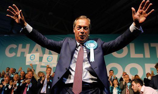 Nigel Farages Brexit-Partei ist hoch im Kurs