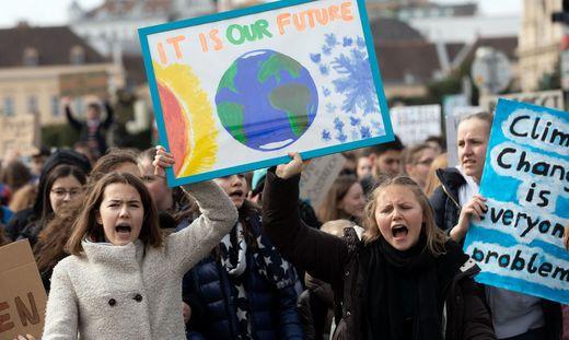 Demo Freitag Wien Detail: Fridays For Future : Tausende Schüler Demonstrierten Für