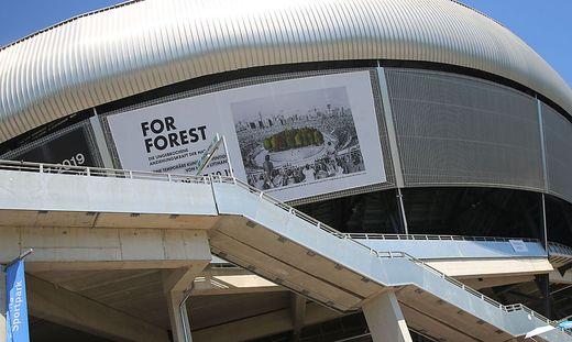 Am 9. September wird das umstrittene Kunstprojekt im Stadion eröffnet
