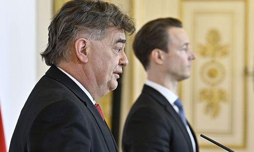 Vizekanzler Werner Kogler und Finanzminister Gernot Blümel