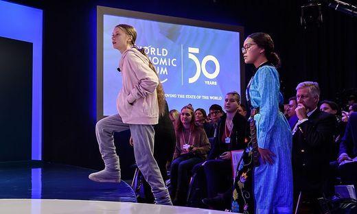 Greta Thunberg beim Weltwirtschaftsforum in Davos
