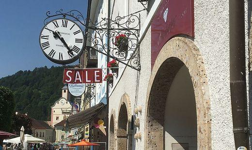 Geschäftsschließung Gmünd Hauptplatz