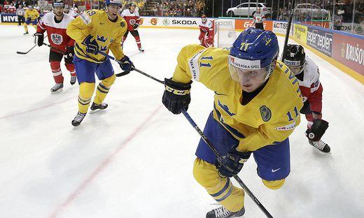 Simon Hjalmarsson im Trikot der schwedischen Nationalmannschaft