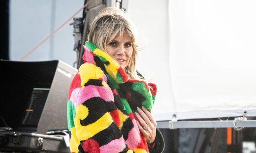 "Heidi Klum bei den Dreharbeiten von ""Germany's Next Topmodel"""