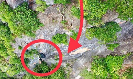 Luftaufnahme von der Bergung