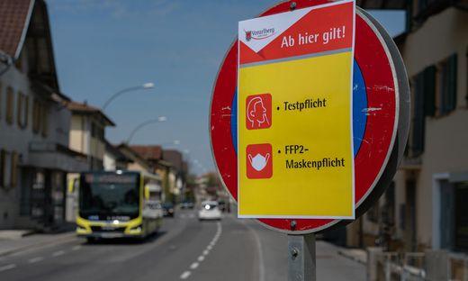 In Lustenau herrscht Masken- und Testpflicht