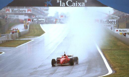 Catalunya Barcelona Spain 31 5 2 6 1996 Michael Schumacher Ferrari F310 1st position at Elf