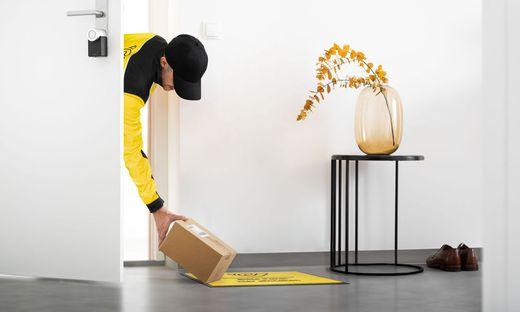 Die gelbe Matte als Ziel: Post könnte bald bis ins Vorzimmer zustellen