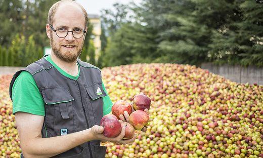"""Etwa 1500 Tonnen Obst werden jährlich vom Team um Marco Kopp von """"Lavanttaler Obst"""" verarbeitet"""