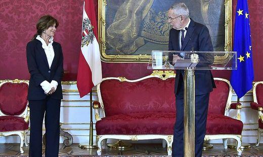Van der Bellen und Verfassungsgerichtshof-Präsidentin Brigitte Bierlein