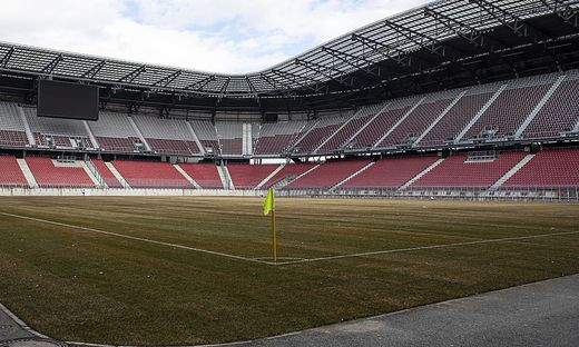 Oft gelobt, jetzt schuld am Unentschieden zwischen WAC und ZSKA - der Rasen im Wörthersee Stadion