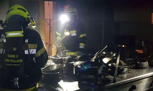 In einer Restaurant-Küche in Villach brach ein Brand aus