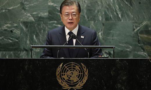 Der südkoreanische Präsident Moon Jae In