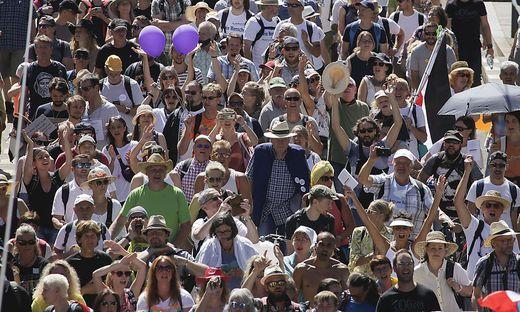 So wurde am 1. August in Berlin demonstriert