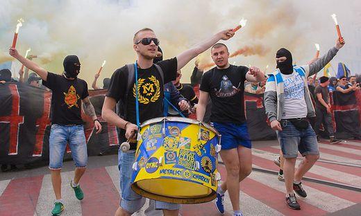 Ukrainische Fußballfans