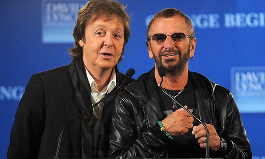 Paul McCartney und Ringo Starr: Mini-Reunion der Beatles