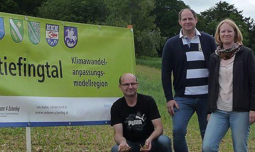 Landwirt Hannes Obendrauf, Stefan Neubauer, Isabella Kolb-Stögerer